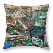 Lobster Traps  Throw Pillow