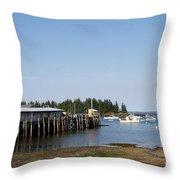 Lobster Wharf Throw Pillow