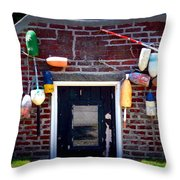 Lobstermans House Throw Pillow