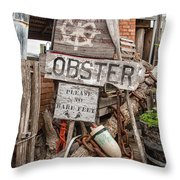 Lobster's Here Throw Pillow