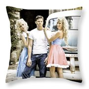 Local Country Store Pinup Throw Pillow