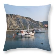 Local Fishing Boats Throw Pillow