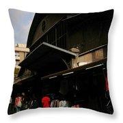Local Market Throw Pillow