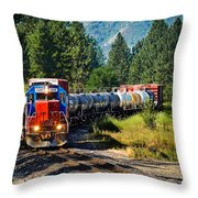 Local Train Throw Pillow