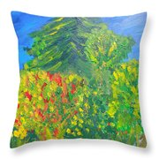 Local Trees Throw Pillow