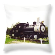 Locamotive Engine Landscape Throw Pillow