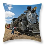 Locomotive Engineer Throw Pillow