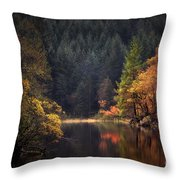 Loch Ard In The Fall Throw Pillow