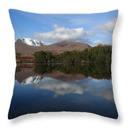 Loch Cul Dromannan Throw Pillow