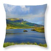 Loch Fada To The Storr Throw Pillow