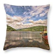Loch Fyne Digital Painting Throw Pillow