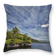 Loch Katrine Landscape Throw Pillow