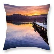 Loch Lomond Dawn Throw Pillow