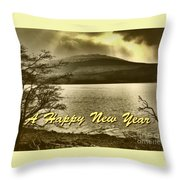Loch Lomond  New Year Greeting Throw Pillow