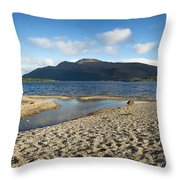 Loch Lomond Pano Throw Pillow by Jane Rix