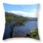 Loch Lomond Tree Throw Pillow