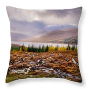 Loch Loyne Cairns Throw Pillow