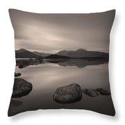 Loch Nah Achlaise Dawn Throw Pillow