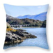 Loch Nan Uamh Viaduct 2 Throw Pillow