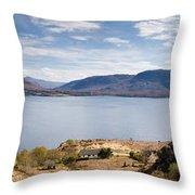 Loch Torridon Panorama Throw Pillow