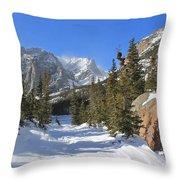 Loch Vale Winter Throw Pillow