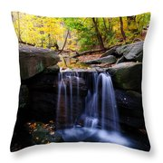 Loch Waterfall Throw Pillow