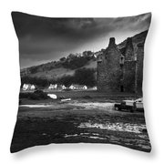 Lochranza Castle Throw Pillow