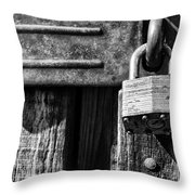 Lock And Latch Throw Pillow