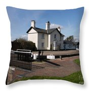 Lock Cottages Throw Pillow