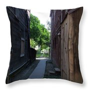 Locke Chinatown Series -  Alleyway With Trees - 4 Throw Pillow