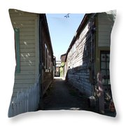 Locke Chinatown Series - Back Alley - 6 Throw Pillow