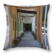 Locke Chinatown Series - Main Street - 7 Throw Pillow