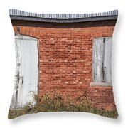 Locked And Shuttered Throw Pillow
