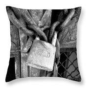 Locked - Black And White Throw Pillow