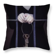 Locked-in Throw Pillow