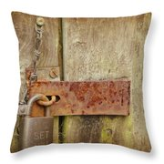 Locked Shut Throw Pillow