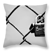 Locked Together Throw Pillow