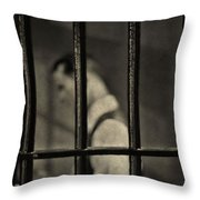 Locked Up Black And White Throw Pillow