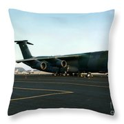 Lockheed C-5 Galixy Throw Pillow