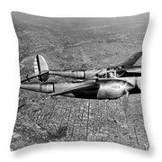 Lockheed P-38 Lightning Fighter Throw Pillow