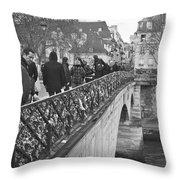 Locking Love Throw Pillow