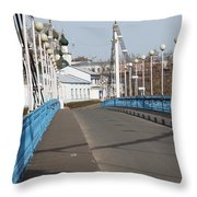 Locks On Bridge Throw Pillow