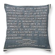 Locomotive # 755 Throw Pillow