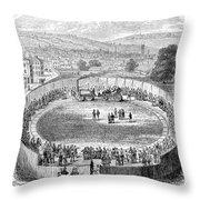 Locomotive, 1808 Throw Pillow