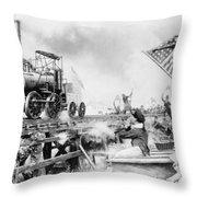 Locomotive, 1929 Throw Pillow