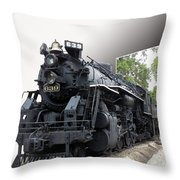 Locomotive 639 Type 2 8 2 Out Of Bounds Throw Pillow