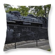 Locomotive 639 Type 2 8 2 Side View Throw Pillow