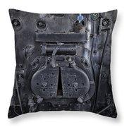 Locomotive 886 Steam Boiler Firebox Throw Pillow