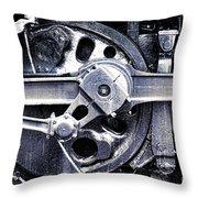 Locomotive Drive Wheels Throw Pillow