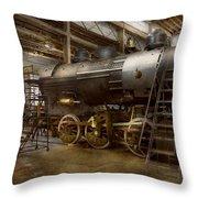 Locomotive - Repairing History Throw Pillow